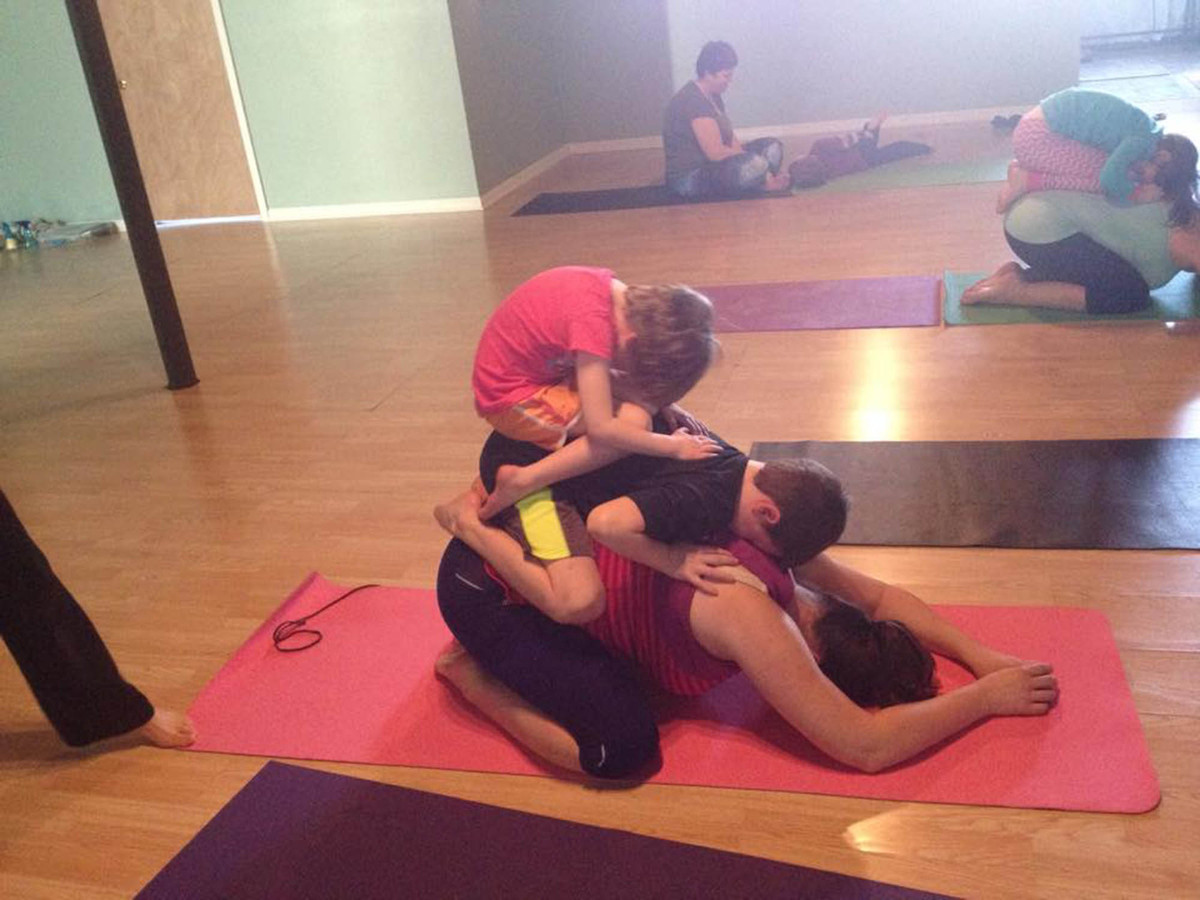 yoga challenges for three people