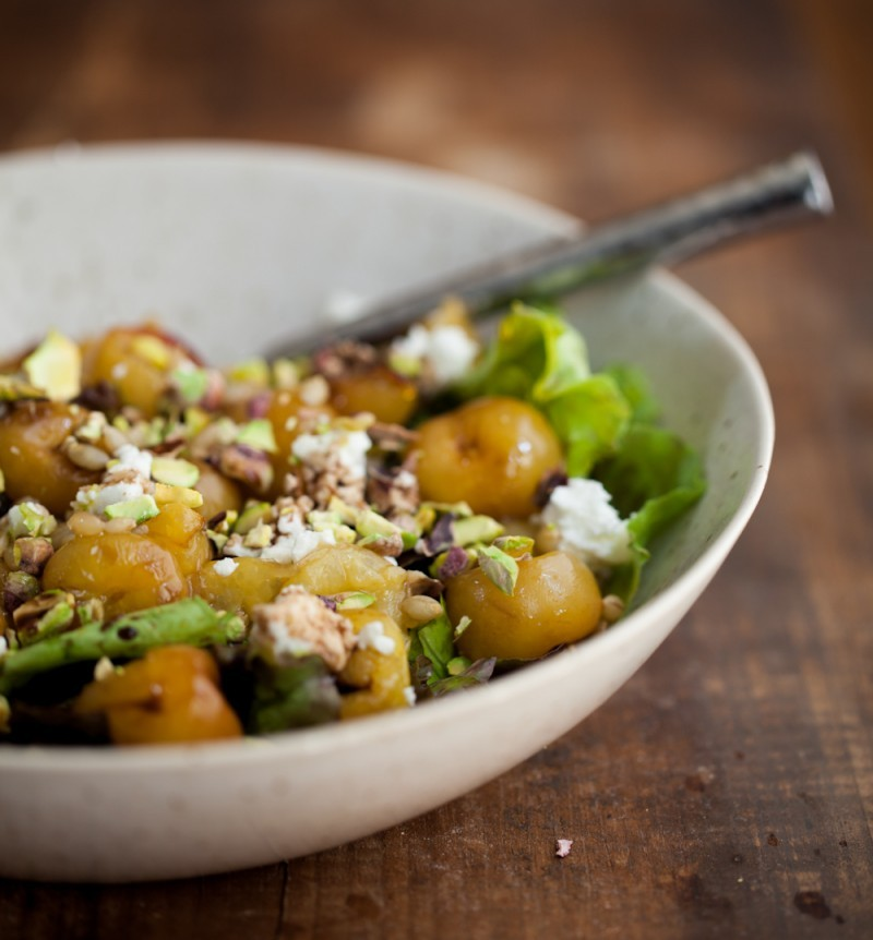 ... Cherry, Barley, And Goat Cheese Salad recipe from Naturally Ella