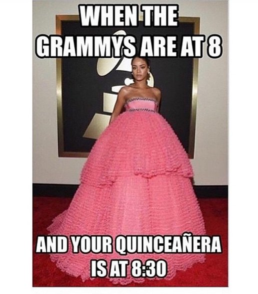 Rihanna S Grammy Dress Made Every Quincea 241 Era Jealous