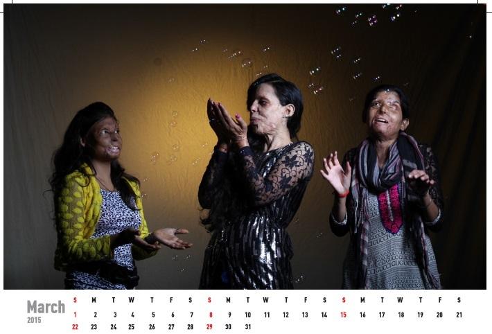 Женщины, пострадавшие от кислотных атак, стали фотомоделями (ФОТО)