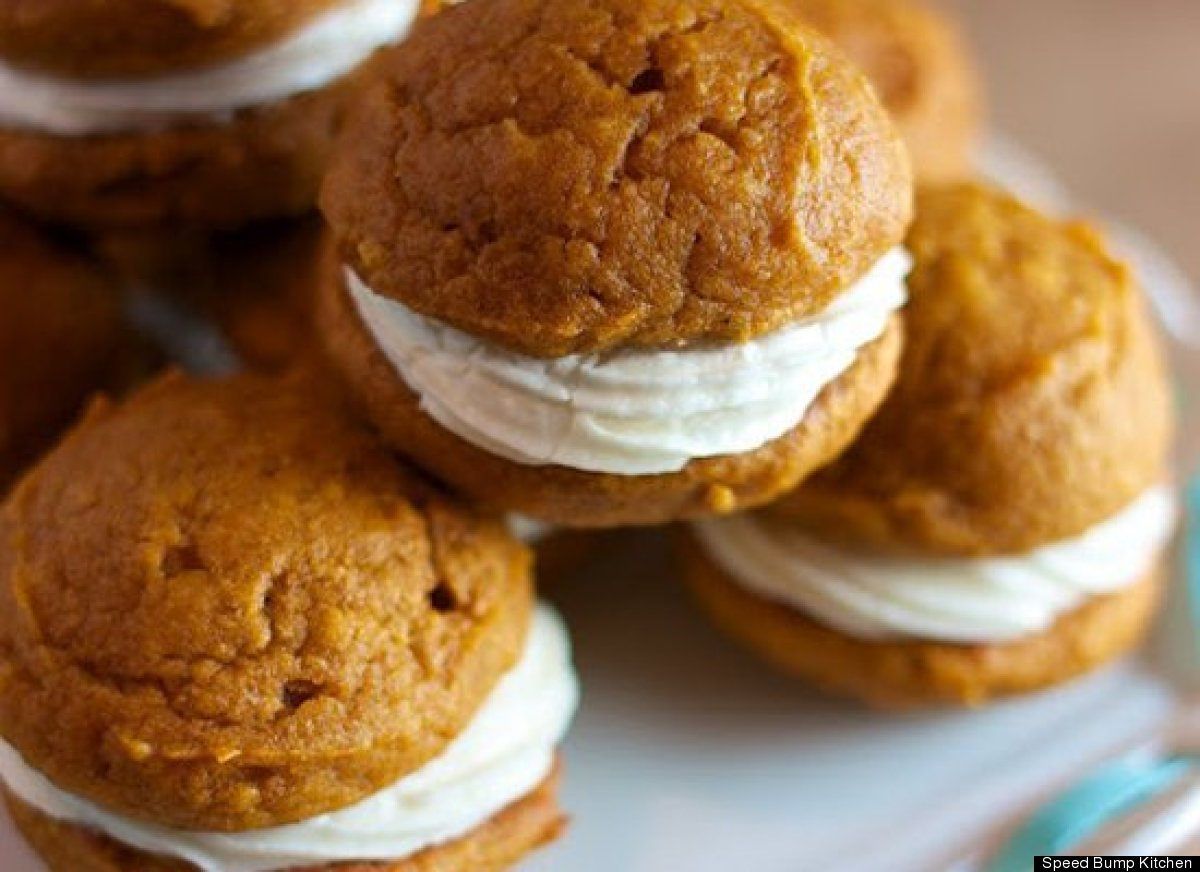Get the Mini Pumpkin Whoopie Pies recipe with Maple Cream Cheese ...