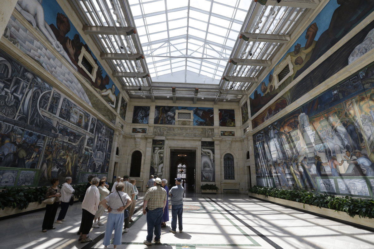 Detroit Free Press Auto >> A Rare Look At How Diego Rivera Turned Sketches Into His ...