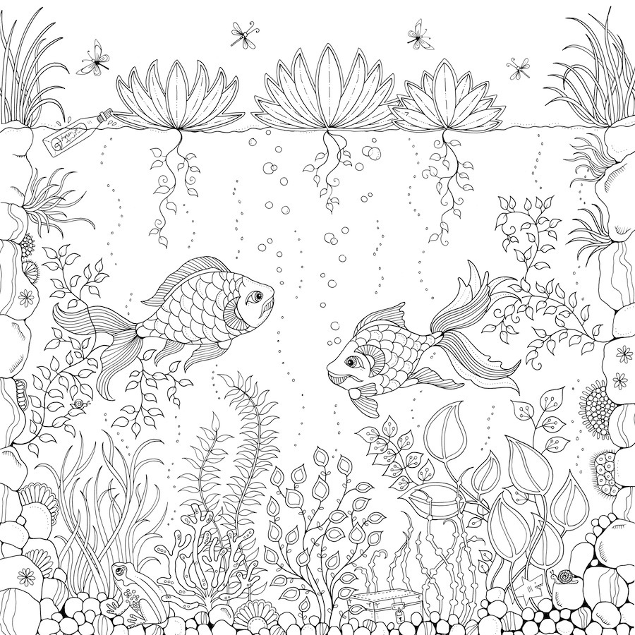 free printable secret garden coloring pages | 10 Adult Coloring Books To Help You De-Stress And Self ...