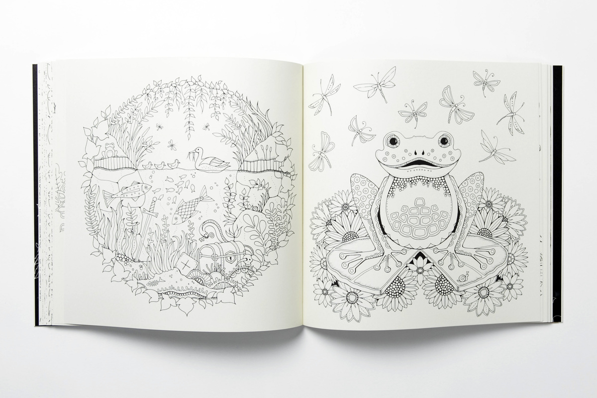 Coloring books to destress - From Enchanted Forest