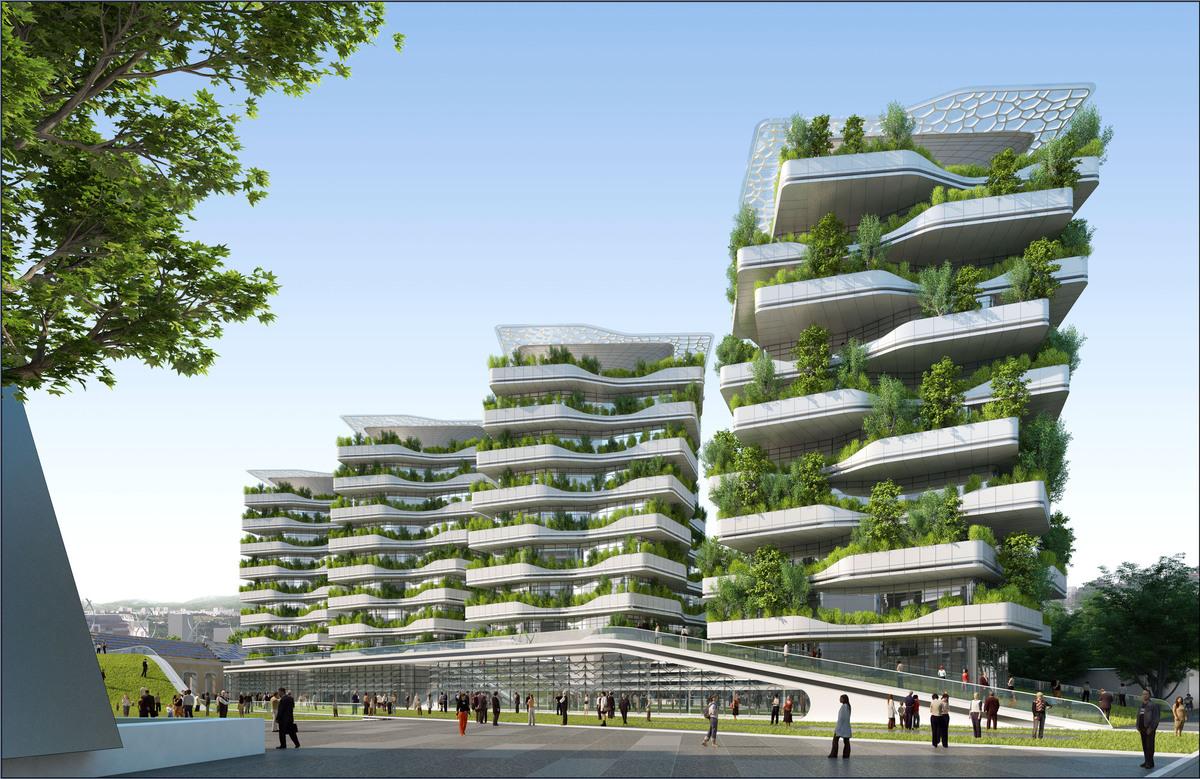 ville du futur l 39 architecte vincent callebaut imagine l 39 avenir avec son projet de quartier. Black Bedroom Furniture Sets. Home Design Ideas