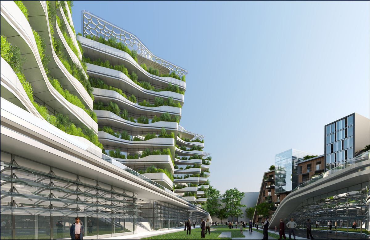 Ville du futur l 39 architecte vincent callebaut imagine l for Architecture 2050