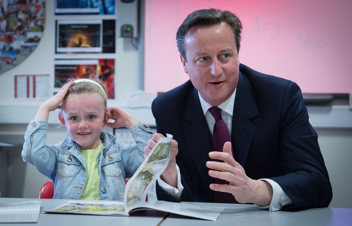 David Cameron's Book Reading Really, Really Bores Six-Year-Old Slide_416198_5287024_free