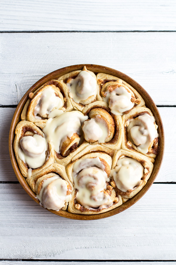 Get the Easy Fluffy Eggnog Cinnamon Rolls recipe from Half Baked ...