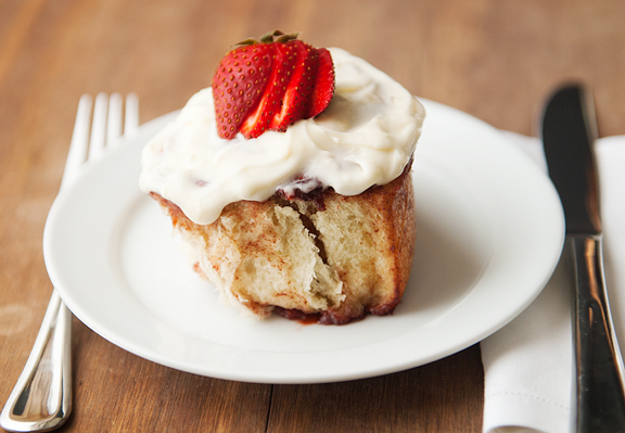 Get the Strawberry Cinnamon Rolls with Grand Marnier Cream Cheese ...