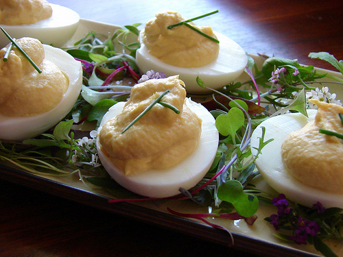 13 smoked trout deviled eggs