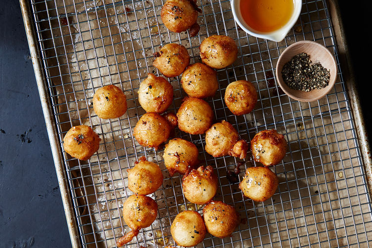 Get the Fried Goat Cheese with Honey and Black Pepper recipe from ...