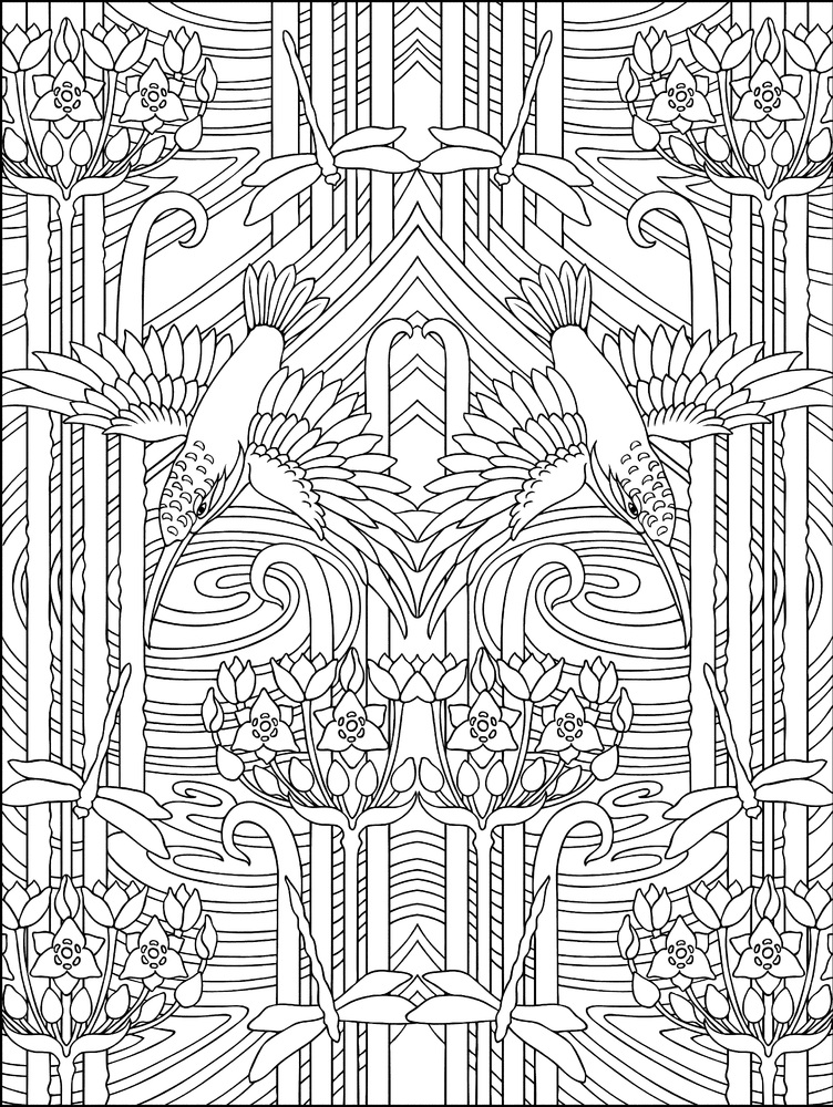 10 adult coloring books to help you de stress and self express - Coloring Book Patterns