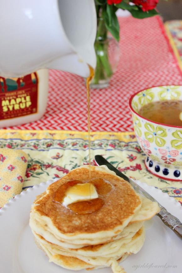 Get the Gluten-Free Buttermilk Pancakes recipe from A Girl Defloured