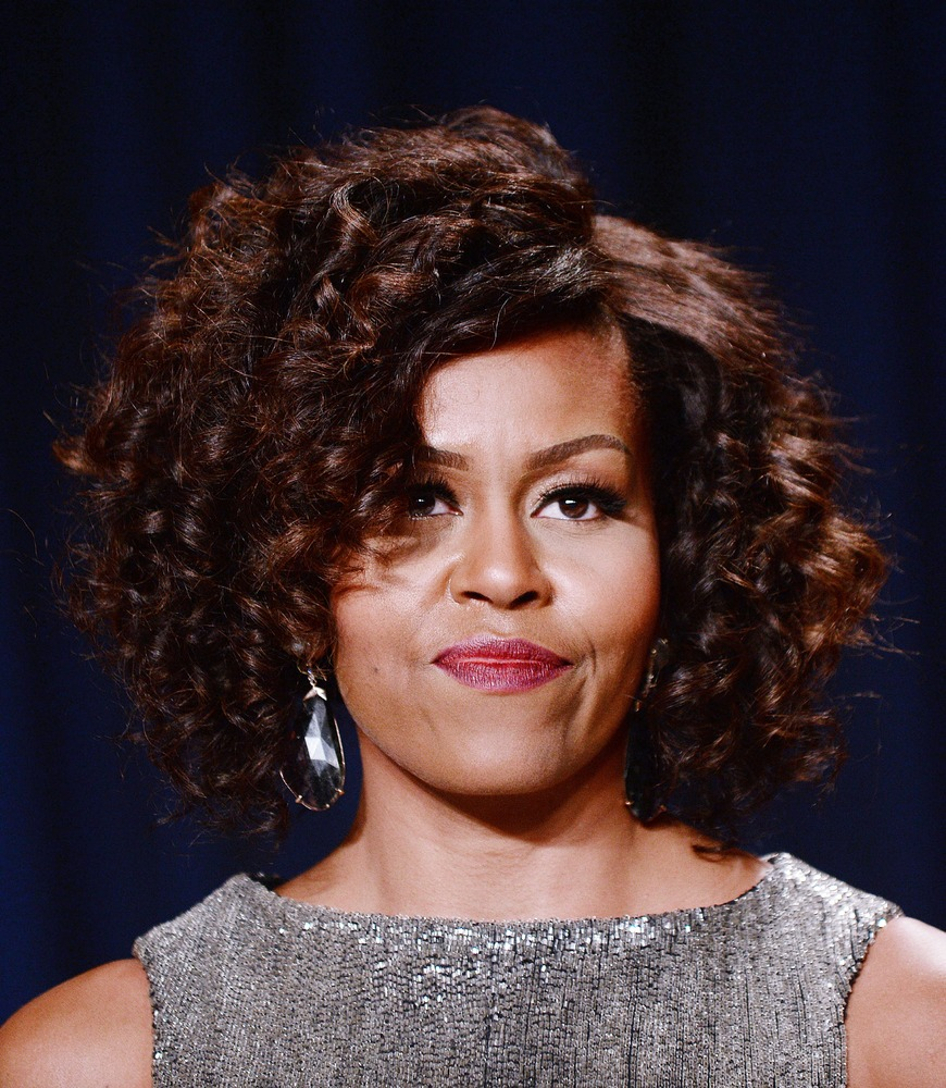 Michelle Obama With Her Natural Hair