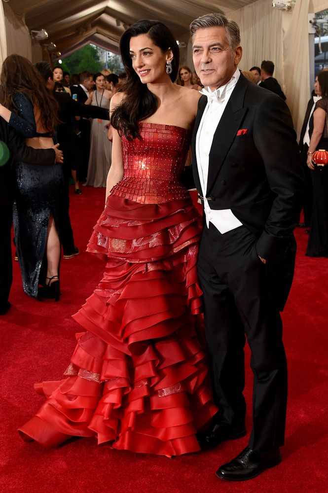 George Clooney And Amal Alamuddin Break Hearts On The Met ...