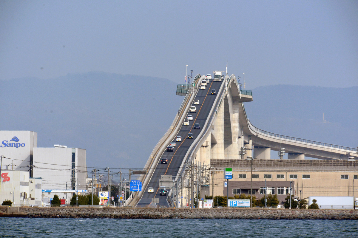 The eshima ohashi bridge in japan looks absolutely for 20 river terrace ny