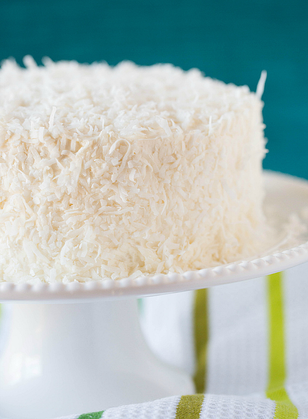 ... coconut vanilla bean cake with coconut meringue buttercream frosting