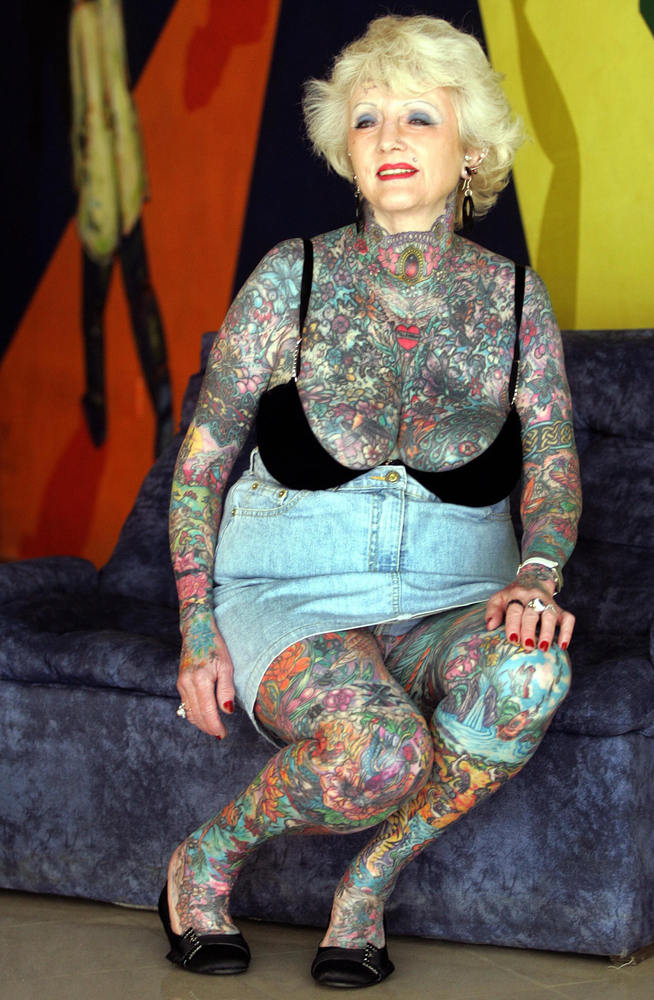 Old Naked Lady Tattoo 52