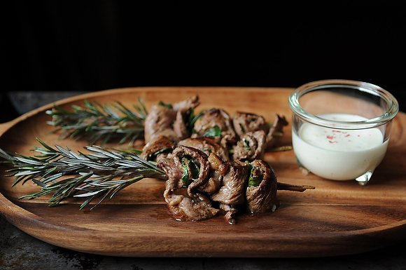 Get the Herbed Beef Skewers with Horseradish Cream recipe from Food52