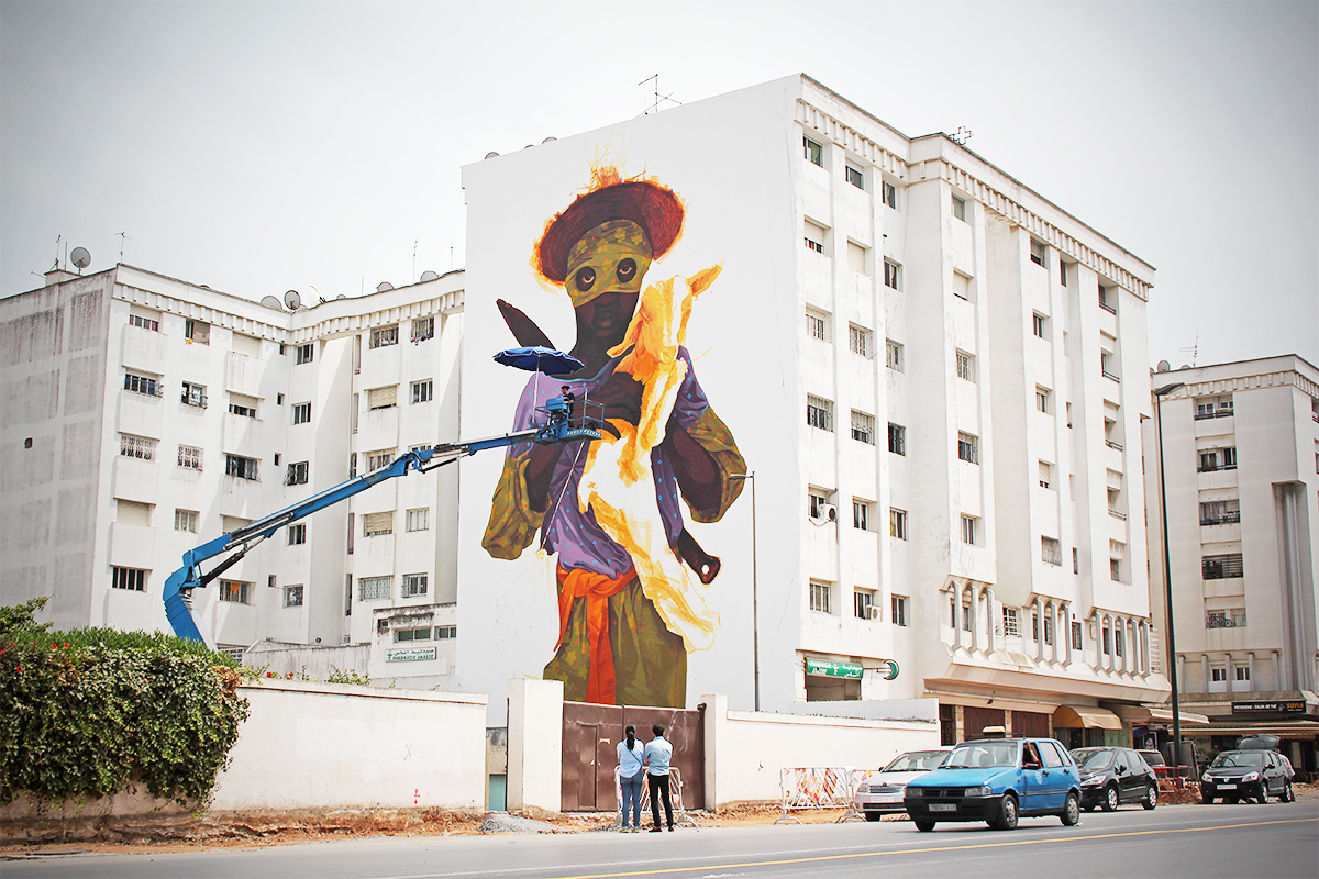 Street art transforms morocco 39 s capital into a living - Table a rabat mural ...
