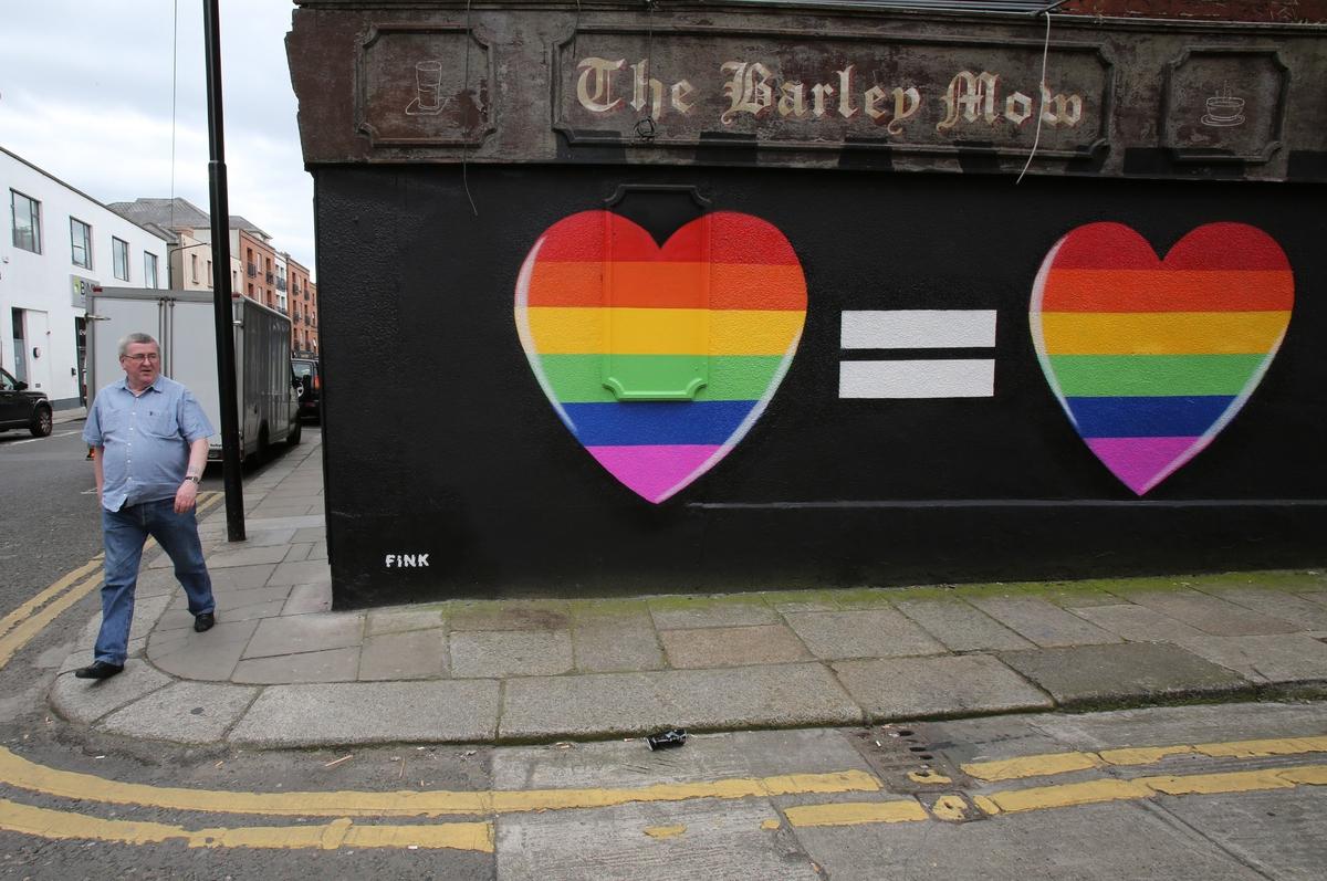 Rainbows form over dublin as ireland votes to legalize gay for Dublin gay mural