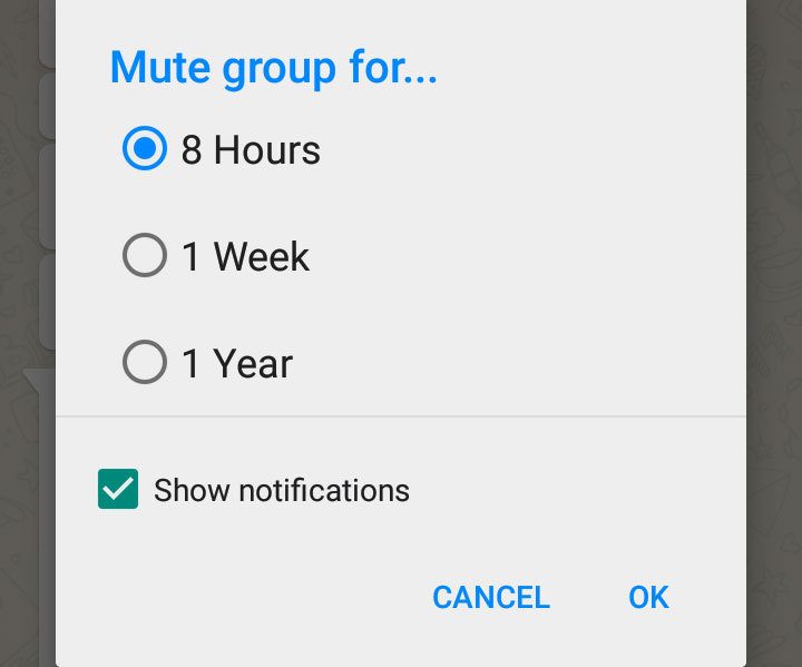 Mute group chats