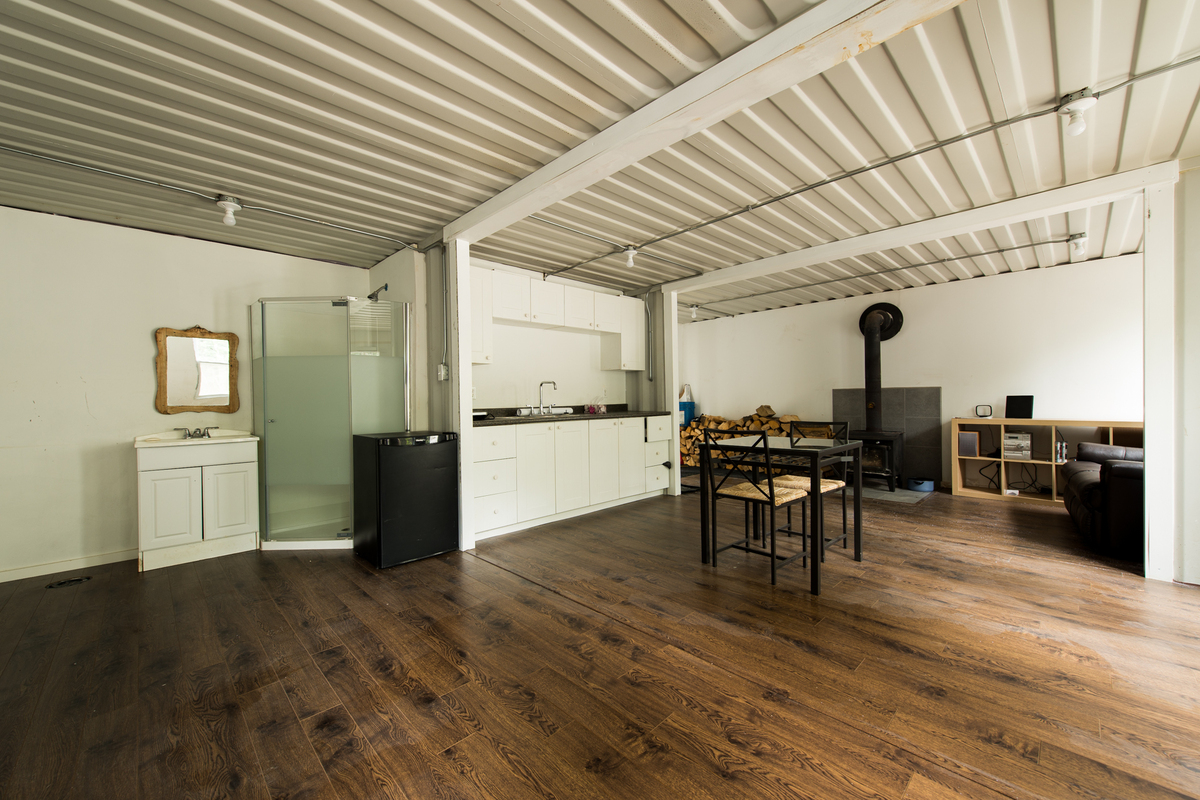 one man built a home out of shipping containers and it's the