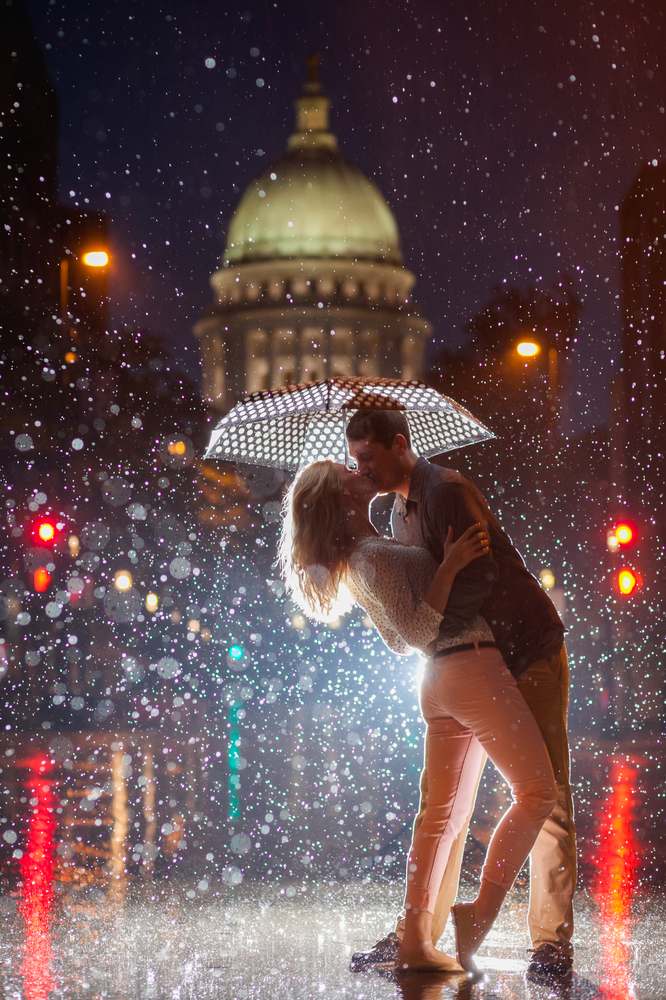 Couple Kissing in the Rain Painting  All Paint by Numbers