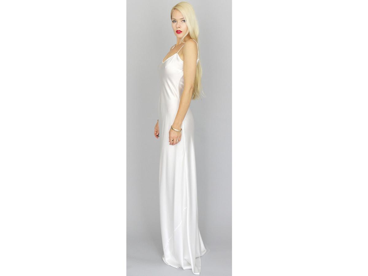 11 wedding dresses under 1 000 huffpost for White silk slip wedding dress