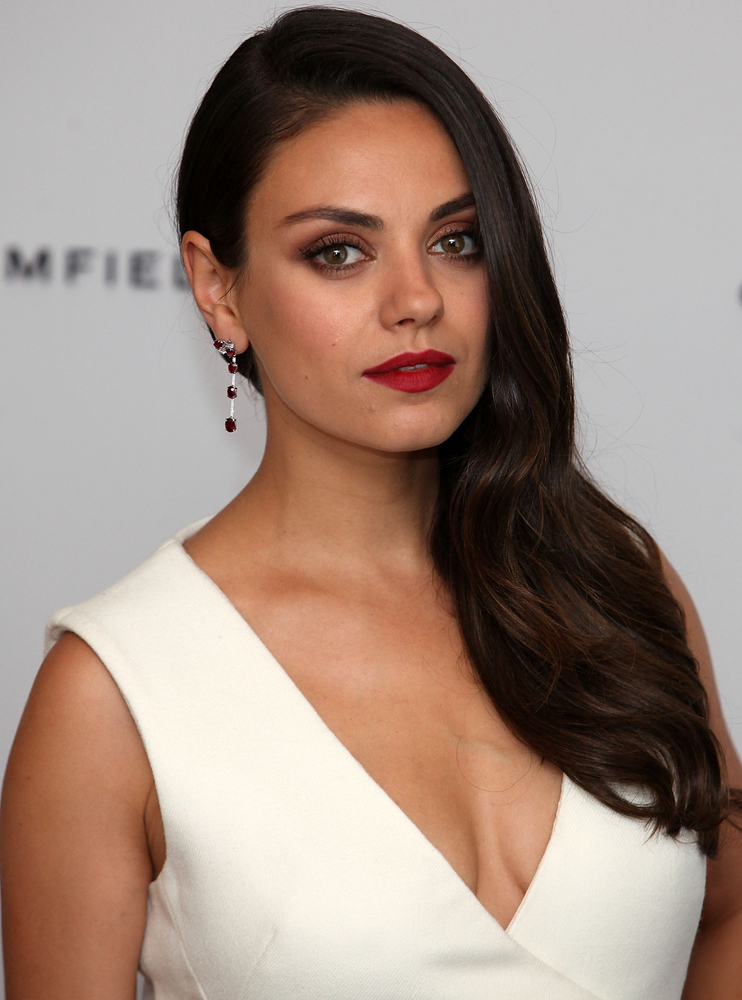 Mila Kunis Matte Red Lips And More Celebrity Beauty