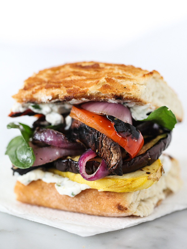 ... Vegetable Sandwich with Herbed Ricotta recipe from Foodie Crush