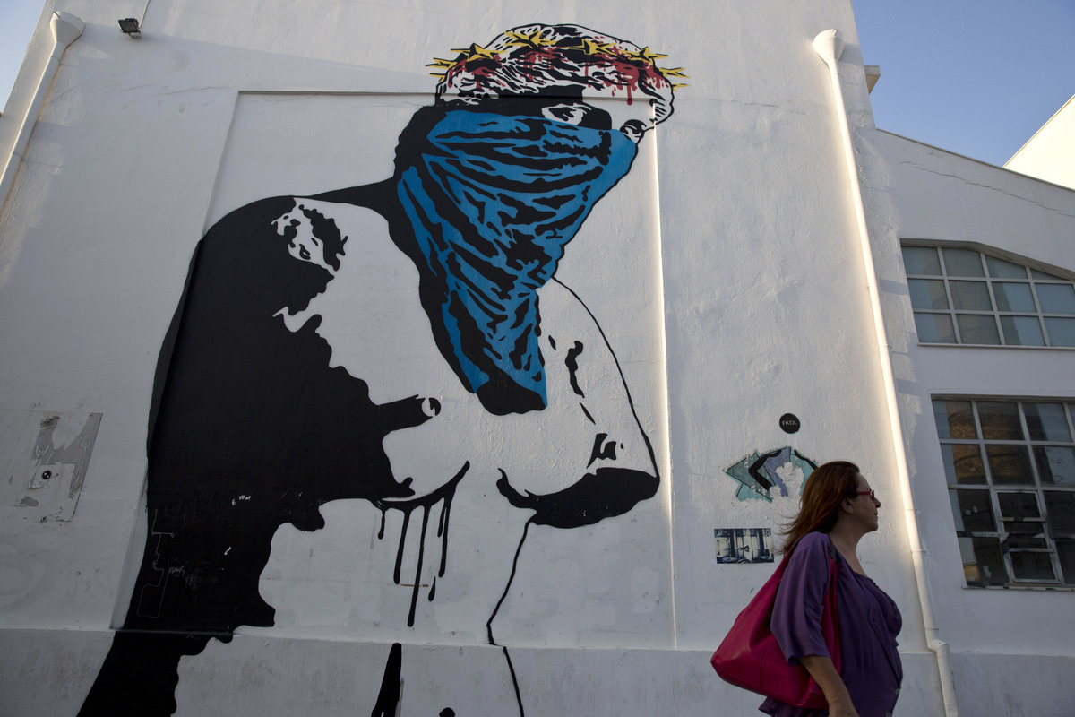 Grafitti fine art 2015 - 27 Powerful Pieces Of Graffiti That Paint Greece S Frustration Amidst Crisis Huffpost