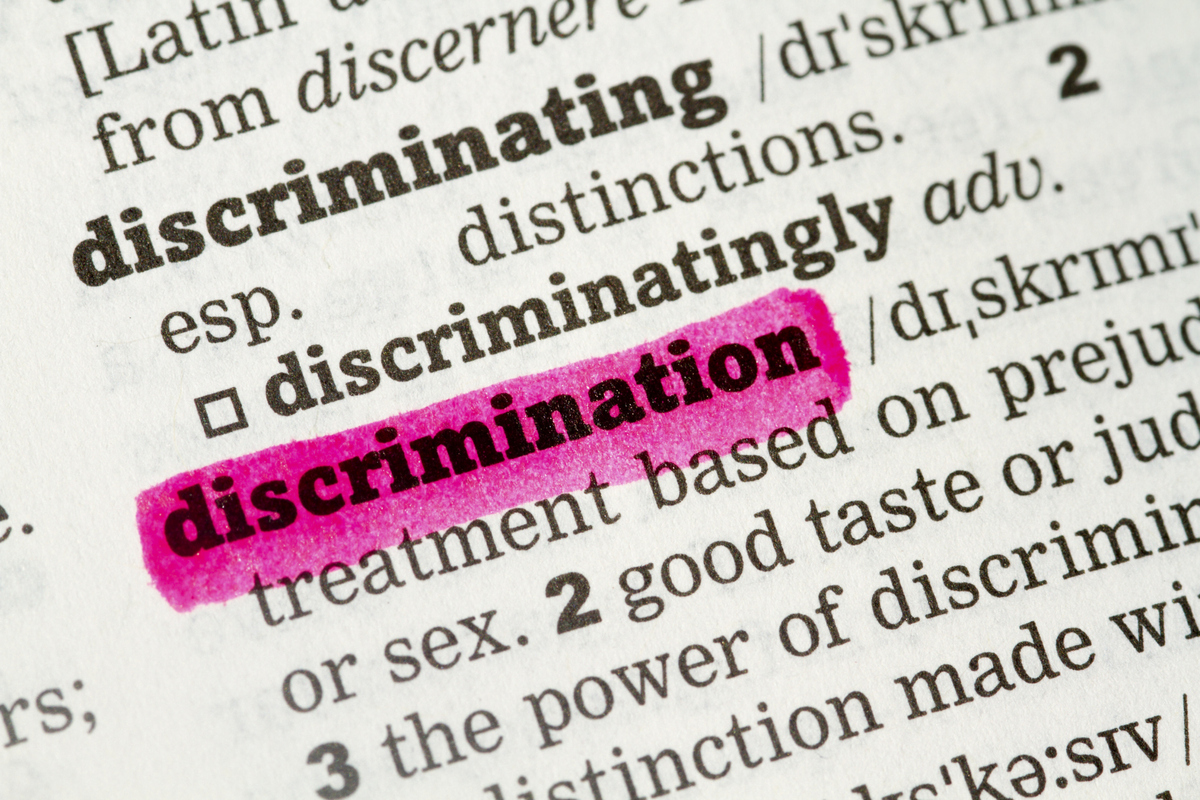 "the meaning of discrimination ""discriminatory"" seems to be the choice when the meaning is negative—as in "" discriminatory housing practices"" (not ""discriminating housing."