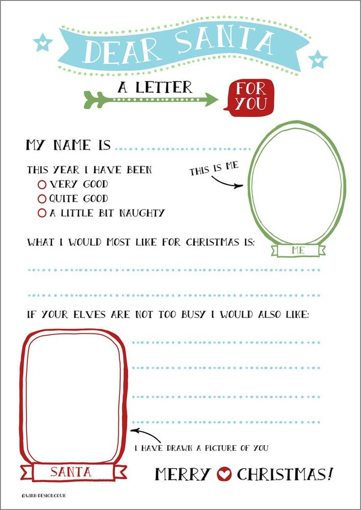 Letter To Santa Templates  Free Printable Letters For Kids To