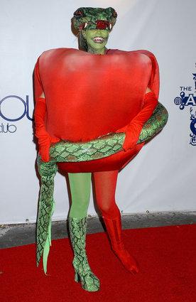 Heidi Klum as the apple and snake from Garden of Eden