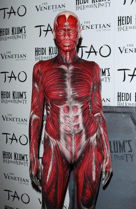 Heidi Klum as a skinless corpse