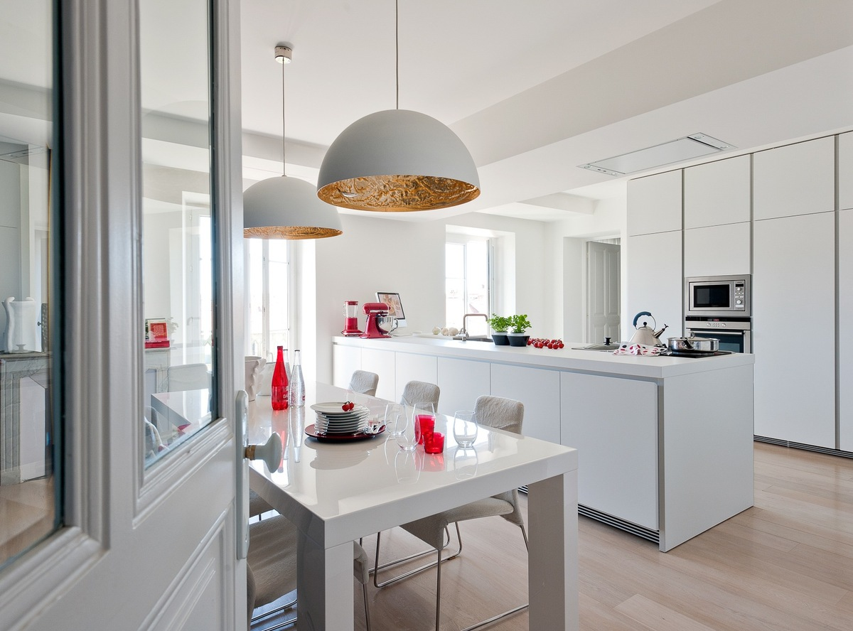 8 id es d co pour personnaliser une cuisine blanche for Cuisine 2015 contemporaine