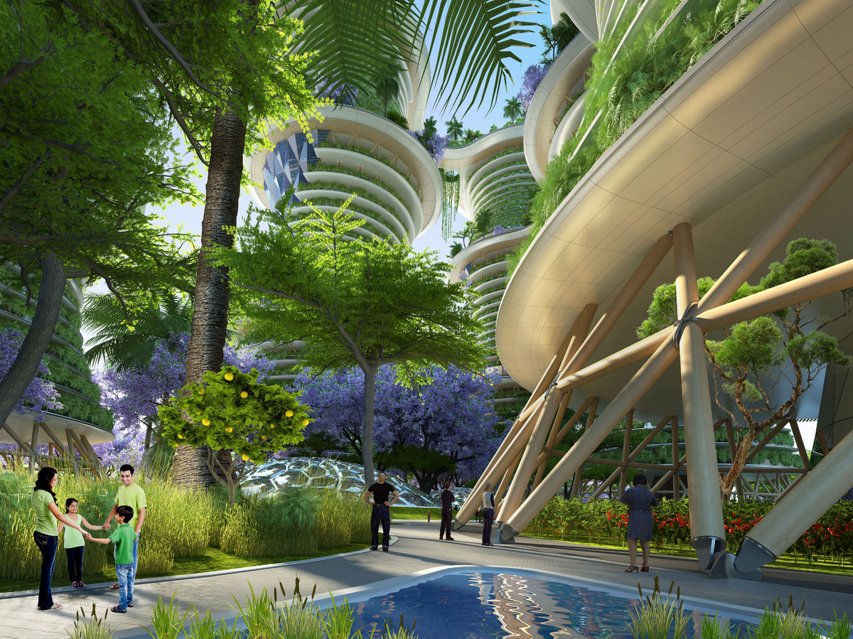 Photos hyp rions un projet d 39 immeuble agritectural du for Architecture futuriste ecologique