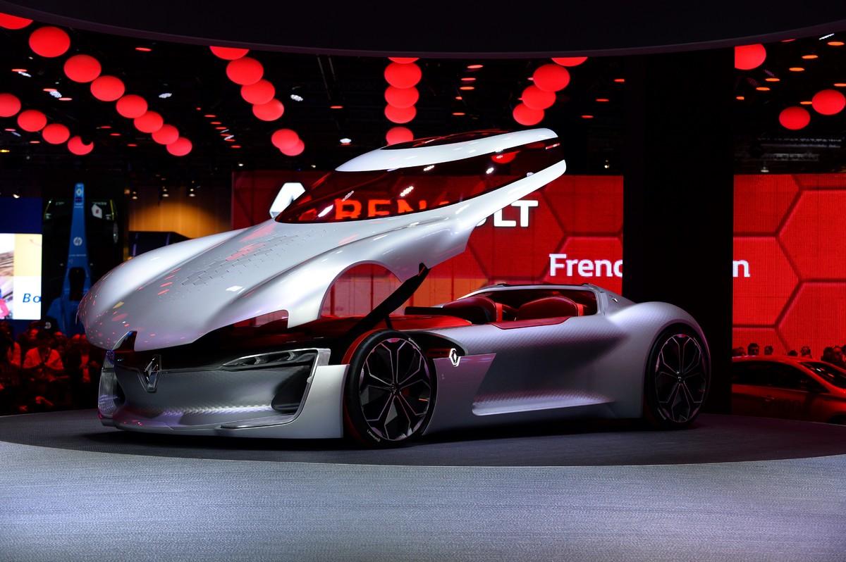 Renault D Voile Un Concept Car Lectrique Avec Une Seule Porte Trezor Au Mondial De L 39 Auto