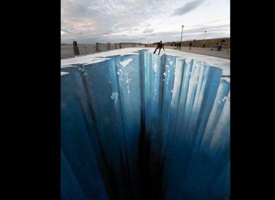 3-D Glacier Floor Art