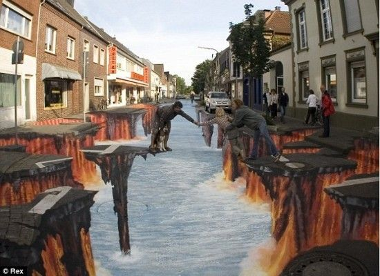 3D Sidewalk Art 1