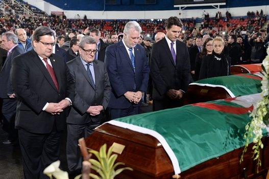 ترودو وآلاف الكنديين يشاركون في تشييع ضحايا مسلمين قتلوا بهجوم على مسجد | مهاجر