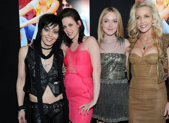 Joan Jett, Kristen Stewart, Dakota Fanning and Cherie Currie