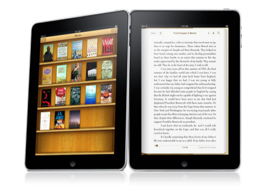 Two e-book readers side by side