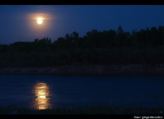 Super Moon Over Colorado River
