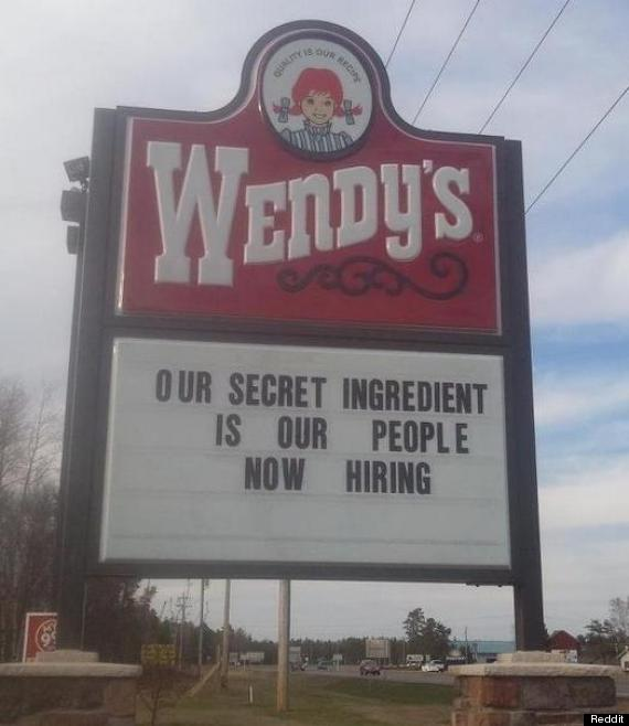 wendys sign fail