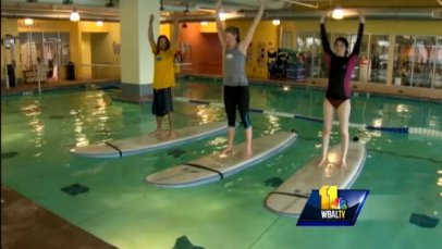 indoor stand up paddle board yoga