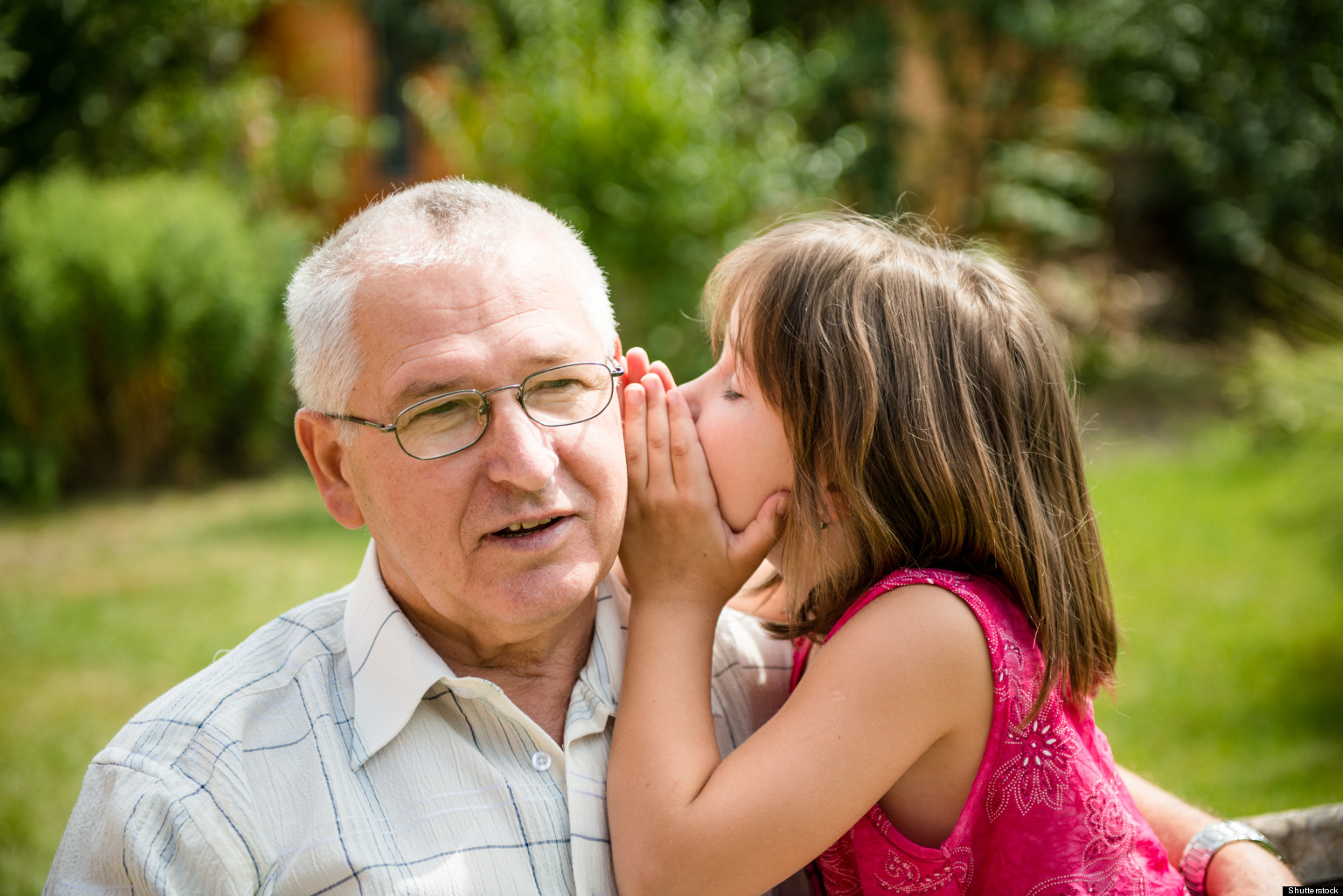 Grandfather And Granddaughter Royalty Free Stock