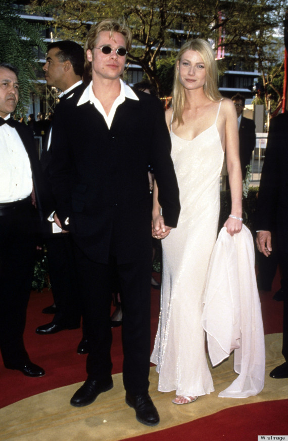 brad pitt and gwyneth paltrow hold hands at the 1996