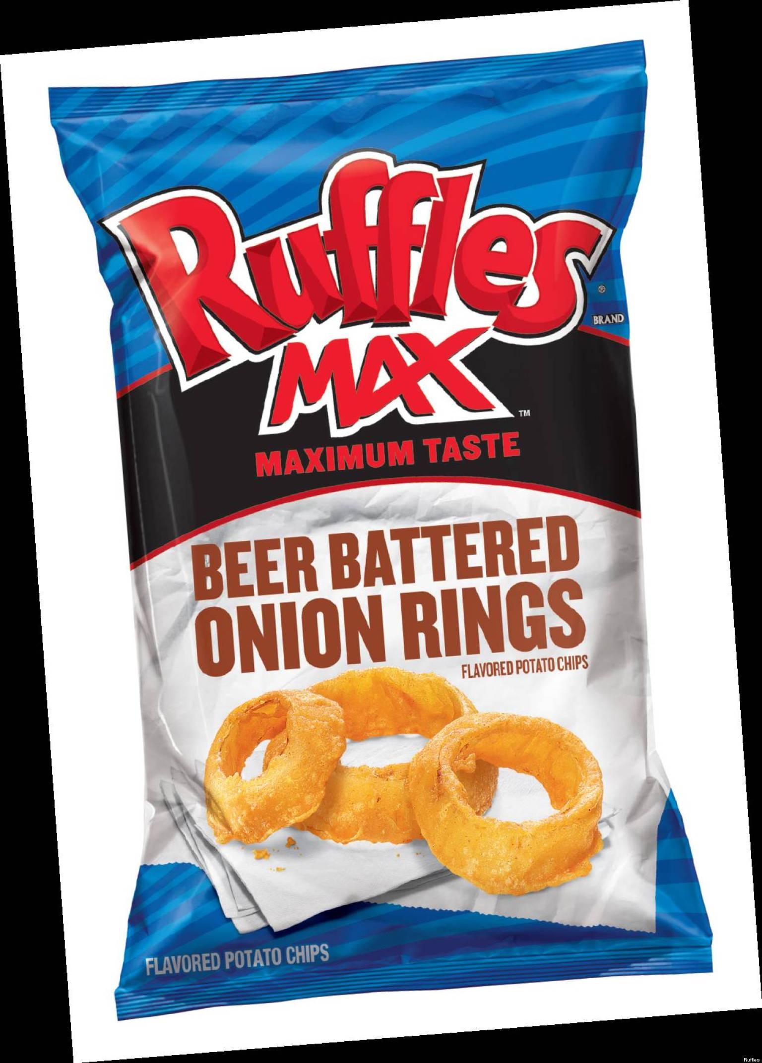 Ruffles MAX Debuts Beer Battered Onion Rings Potato Chips
